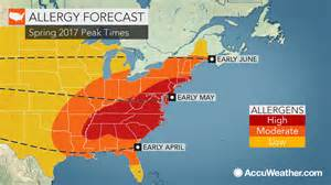 eastern us allergy sufferers early prolonged