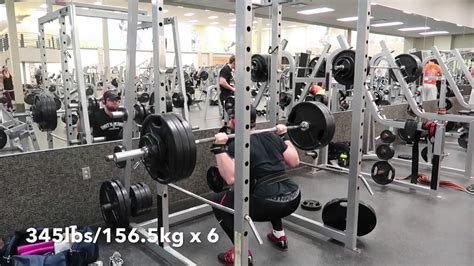 115 bench press 255lbs 115 6kg paused bench press high bar squats up to