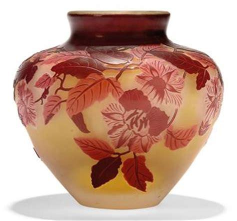 Galle Glass Vase Art Nouveau Emile Galle