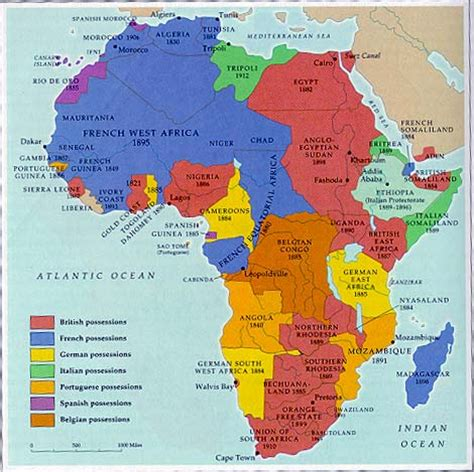 africa map 1950 course handouts