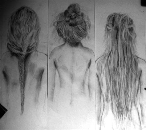 sketches of hair hair drawing tumblr