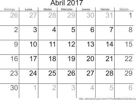 calendario d abril asignacion 2017 abril 2017 calendario para imprimir calendarios para