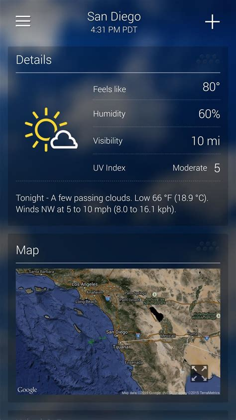 weather app for android phone the 7 best weather apps for android iphone 171 smartphones gadget hacks