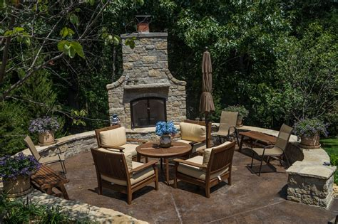 Landscape Patio Designs Wooded Backyard Landscaping Design Poynter Landscape
