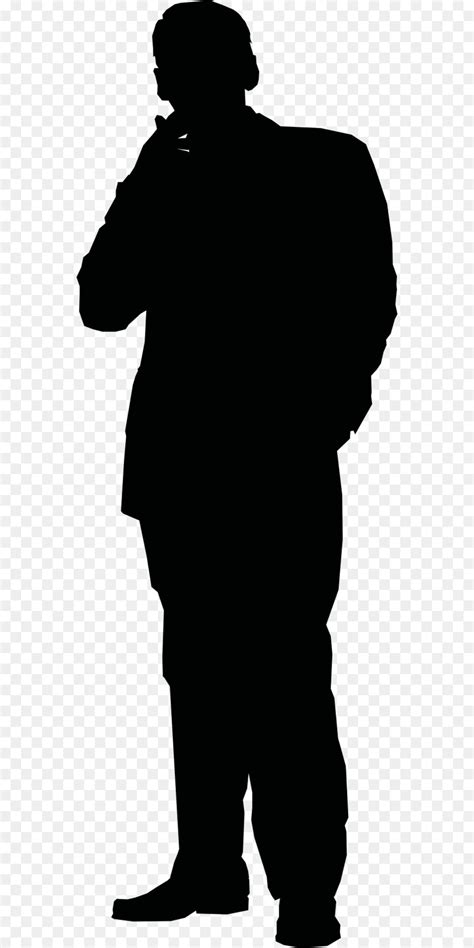 Silhouette Stick figure Clip art - businessman man png