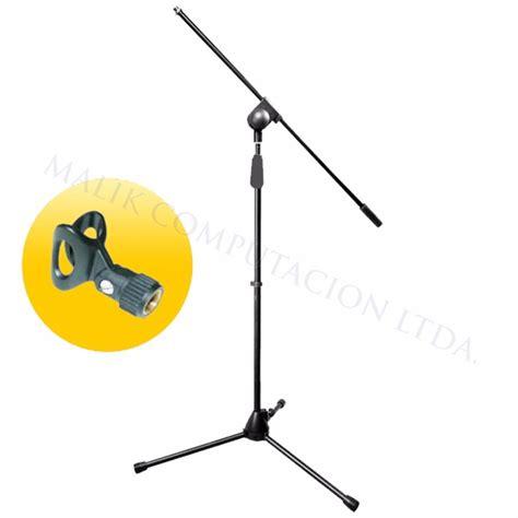 pedestal para microfono atril pedestal microfono c boom incluye porta microfono