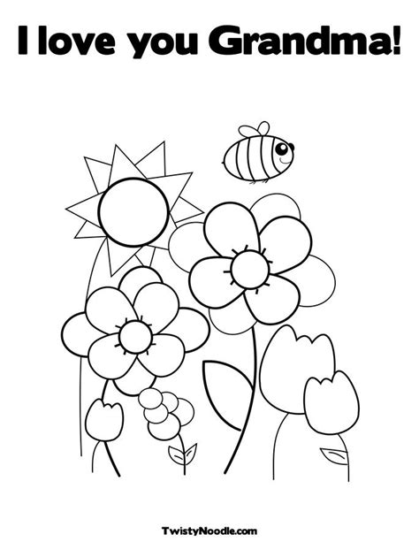 we love you grandma coloring pages coloring pages