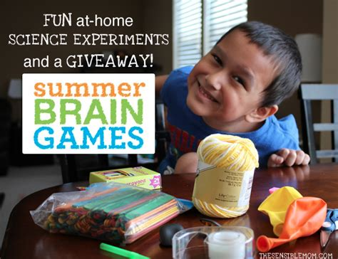 at home science experiments and a giveaway the