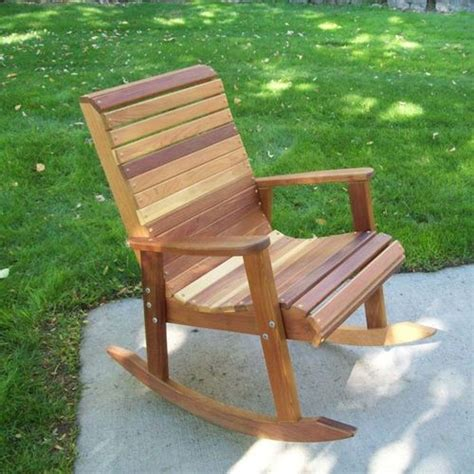 Patio Rocking Chairs Wood Tandl Outdoor Wood Rocking Chair At Brookstone Buy Now