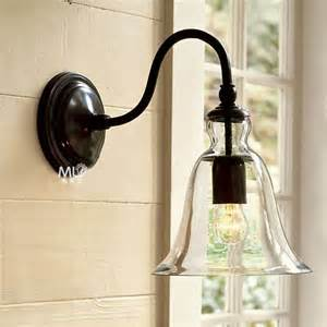 bedroom wall lamp 22cm vintage american style e27 modern brief bed lighting