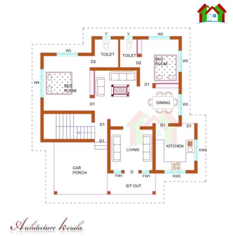 house layout images stunning 1100 square feet single storied house plan
