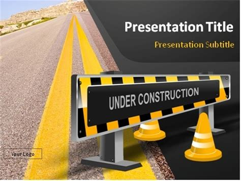 ppt templates free download construction download under construction road sign and highway