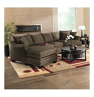 hm richards bryant flared arm espresso multi piece microfiber sectional living room furniture sets