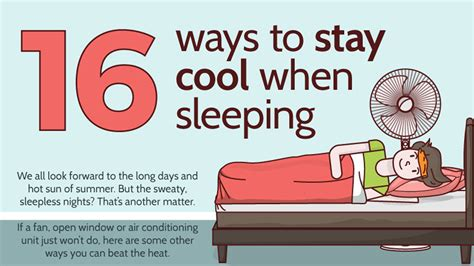 how to sleep comfortably how to sleep comfortably and coolly infographic