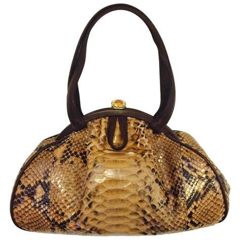 Judith Lieber Blaze Dragee Handheld Satchel by Judith Leiber Gathered Python Frame Bag With