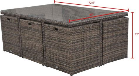 11 patio table radeway 11 rattan cube outdoor patio dining set