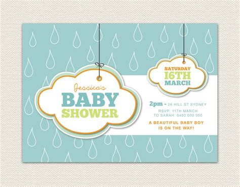 electronic baby shower invitations templates printable baby shower invitation template rainy day