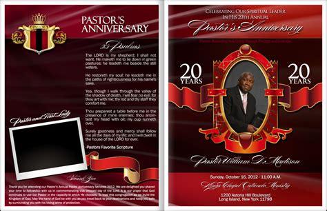 pastor  wife anniversary program party invitations ideas
