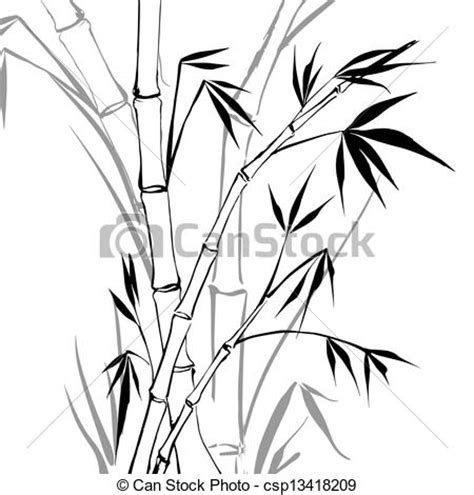 bamboo tree coloring page clipart vecteur de bambou bamboo isol 233 sur white