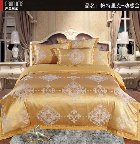 gold bed sheets gold golden tencel silk bedding set king size bed sheet