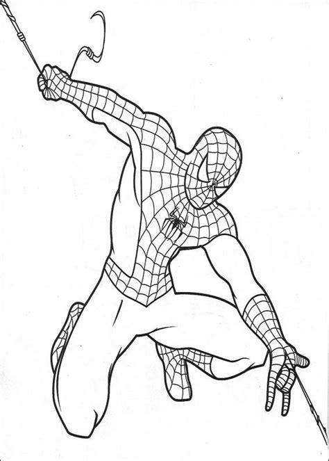 spiderman coloring page pdf dibujo colorear spiderman