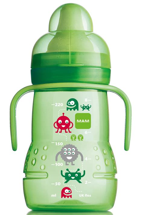 Mam Trainer Green Spout With Teat T1310 mam trainer baby bottle design green non spill spout