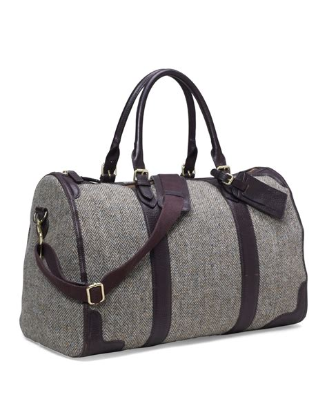 Big Grey Tweed Bag From Promod by Brothers Tweed Duffle Bag In Gray For Lyst