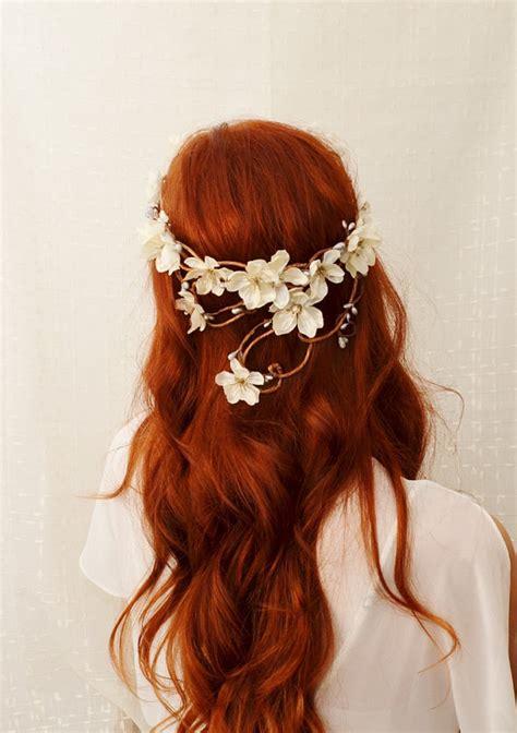 Diane Flower Headpiece wedding headpiece ivory flower crown hair wreath bridal crown wedding accessories hair
