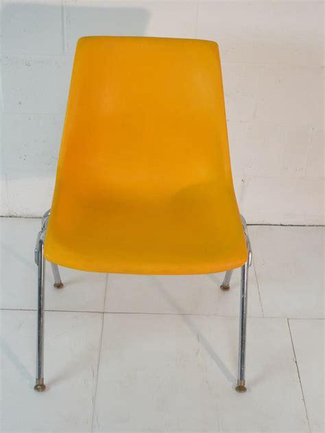mid century modern yellow chair yellow plastic mid century modern eames era 60 s chair