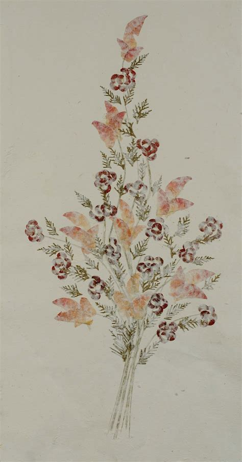 fiori in giapponese dipinto su carta giapponese raffigurante fiori