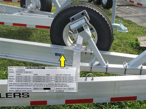 boat trailer vin number identifying your trailer myco trailers llc