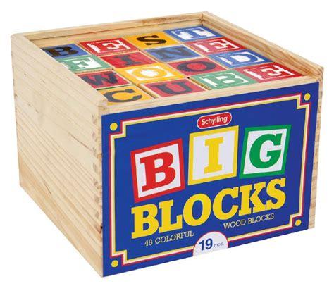 Abc Blocks schylling abc big blocks 48 wood