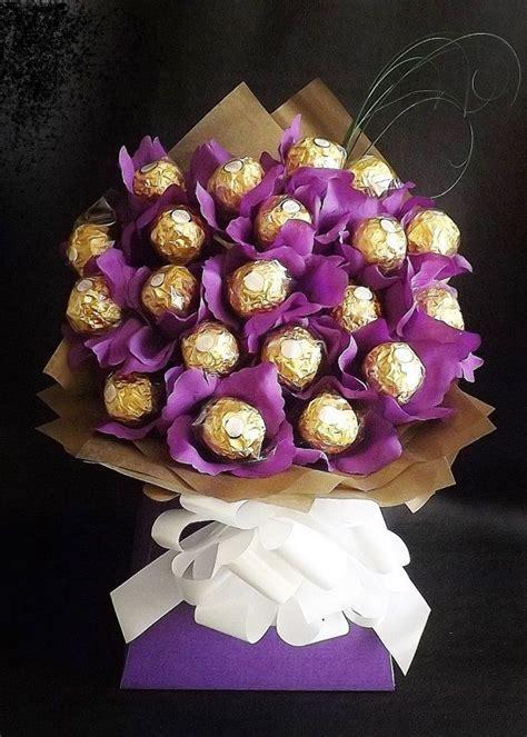 Buket Bunga Coklat Ferrero Wisuda Anniversary Birthday Wedding Murah 1 ferrero rocher chocolate bouquet her for