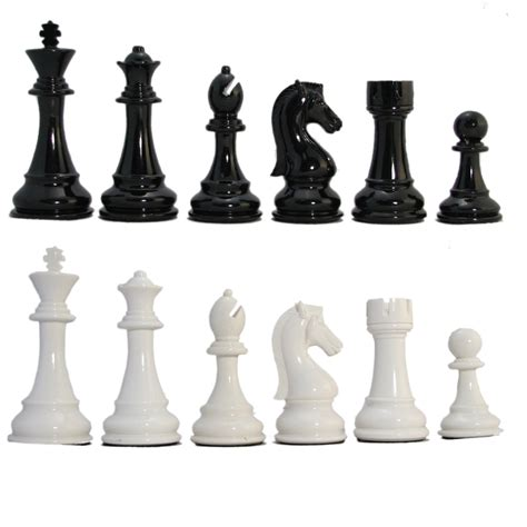 white chess set ultraweight black and white resin chess pieces chess usa