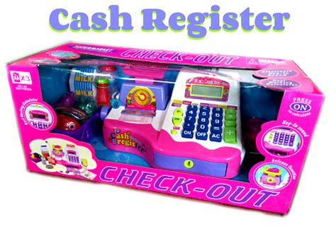 Kasir Register Check Out mainan mesin kasir dan ada uangnya setelan bayi
