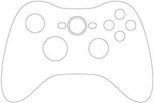 Xbox Controller Cake Template Sketch Coloring Page sketch template
