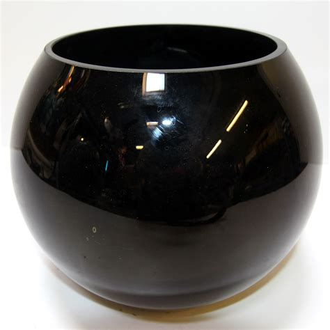 Black Glass Vase by Globe Bowl Black Glass Vase Style 2 Ten And A Half