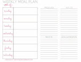 weekly meal menu template gallery weekly dinner menu template