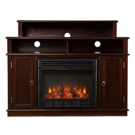 Home Depot Electric Fireplace Tv Stand by Southern Enterprises Daniel 48 In Media Console Electric Fireplace In Espresso 2948249 The