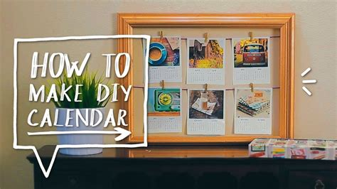 how to make room decorations diy polaroid calendar make a diy calendar for back to