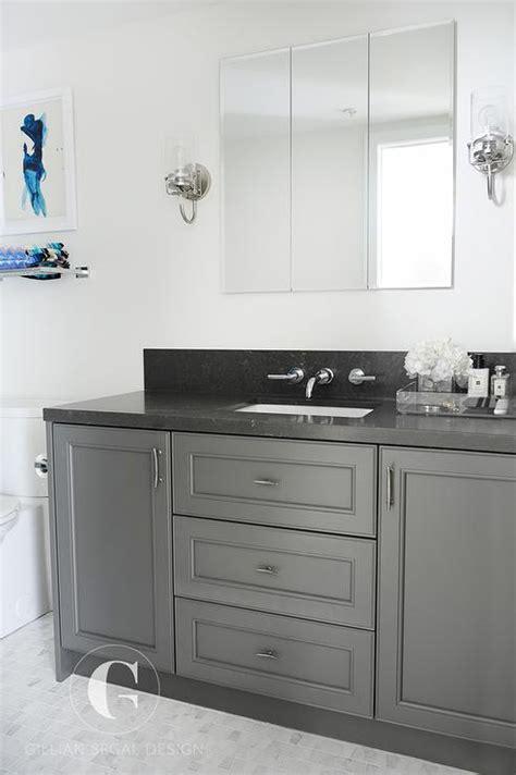 black bathroom countertop gray granite bathroom countertop design ideas