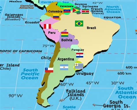 south america map with states and capitals image south america countries and capitals map