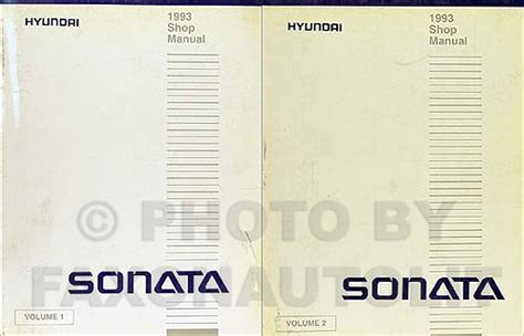 vehicle repair manual 1993 hyundai sonata auto manual 1992 1993 hyundai sonata electrical troubleshooting manual original
