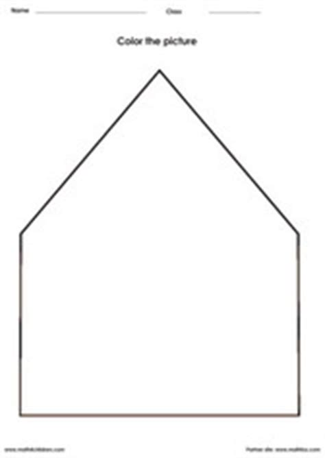 shape of house 28 images outline of house clipart best pre k math worksheets free printable pdfs