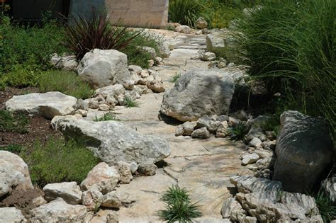 dry stream bed landscape streambed dry creek beds austin landscaping
