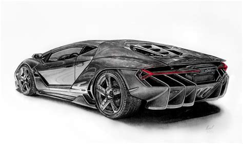 Lamborghini Drawing by Lamborghini Drawings On Lamborghinidevart Deviantart