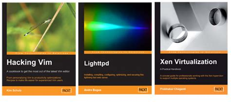 Book Giveaways And Contests - 3 books giveaway hacking vim lighttpd and xen virtualization
