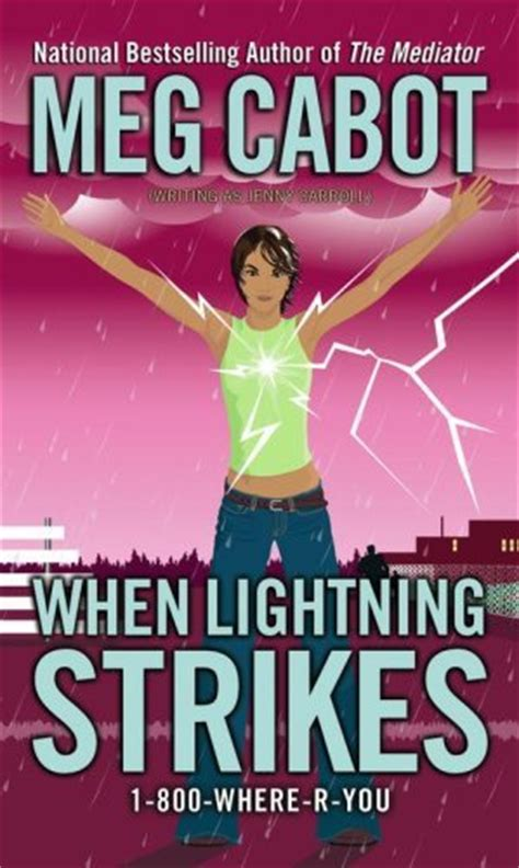 she caused the lightning to strike books when lightning strikes by meg cabot between the pages