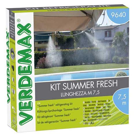 Nebulizzatore Acqua Fai Da Te by Nebulizzatori Acqua Verdemax Kit Summer Fresh Fai Da