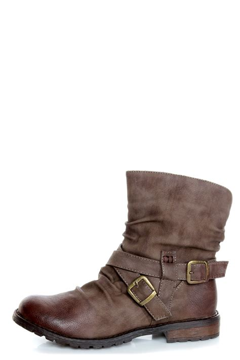 slouchy ankle boots bamboo kacy 03 brown slouchy belted ankle boots 44 00